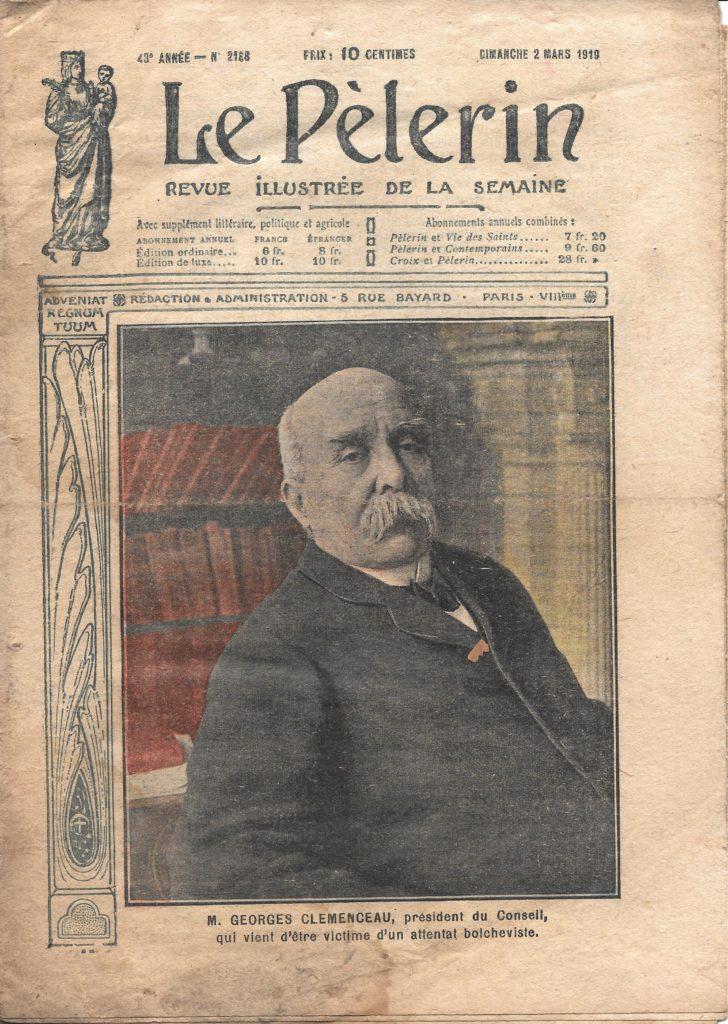 Attentat Clemenceau 1919