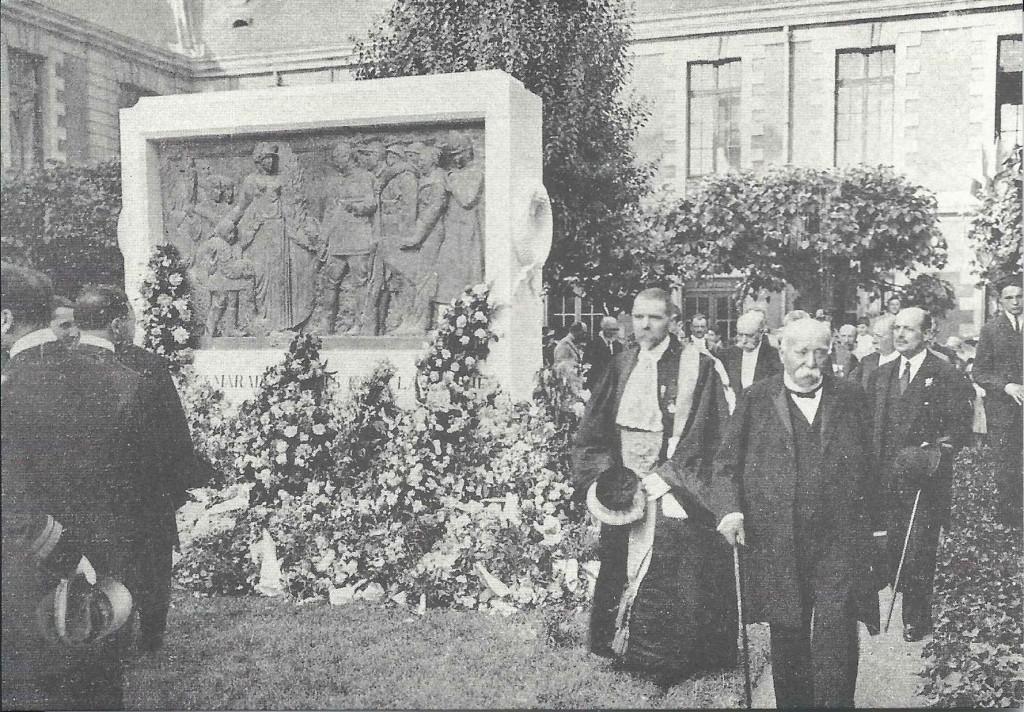 Georges Clemenceau en visite au lycée le 27 mai 1922