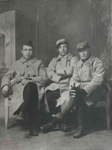 Vaché, Perrin et Chaillous en uniforme