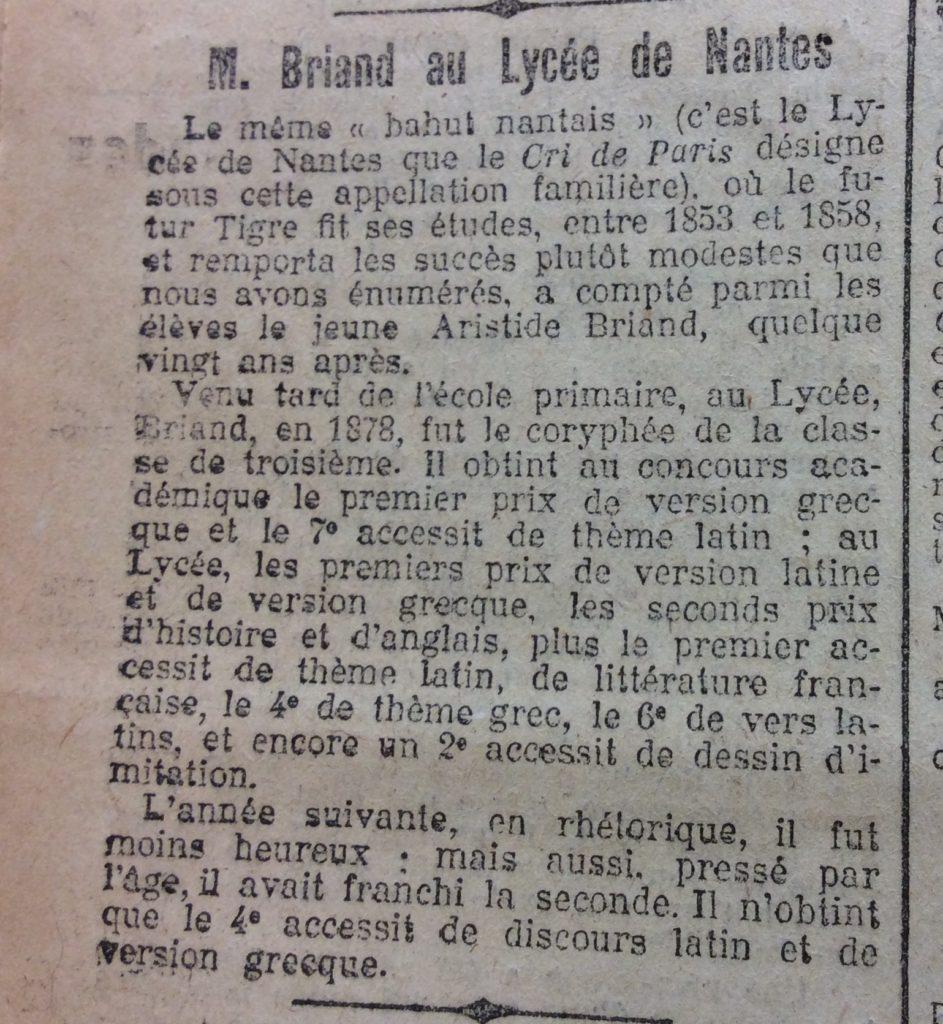 Le Populaire 23 janvier 1918 Briand