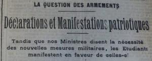 Le Populaire, 11 mars 1913