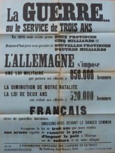 Affiche apposée sur les murs de Nantes le 30 mars 1913