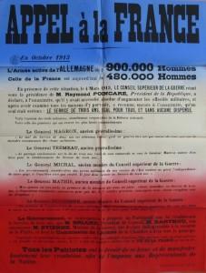 15 avril 1913 Les partisans de la loi de 3 ans affichent