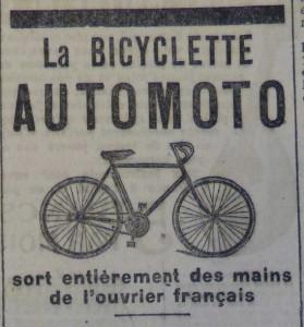 Deux publicités parues dans Le Populaire du 27 avril 1913