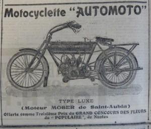 Publicité parue dans Le Populaire du 27 avril 1913