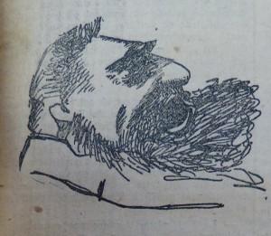 Jaurès croqué par le dessinateur du Télégramme le 10 mars 1914