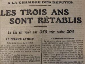 Le Populaire, 21 juillet 1913