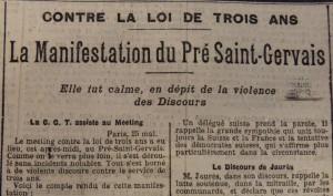 Le Populaire, 27 mai 1913