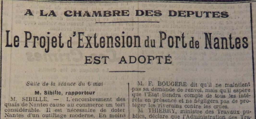 Le port de nantes en plein d veloppement 1913 1919 nos - Developpement photo gratuit sans frais de port ...