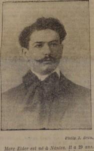 Mac Elder Prix Goncourt.  Le Populaire, 5 décembre 1913