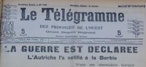 Le Télégramme du 29 juillet 1914