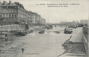 Nantes Au lendemain de l'écroulement du Pont Maudit