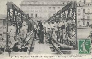 Nantes Le Pont Henry en construction
