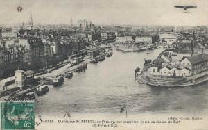 Nantes Maneyrol survole Nantes février 1913