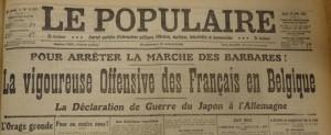 Le Populaire 25 août 1914