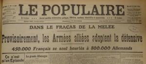 Le Populaire du 26 août 1914
