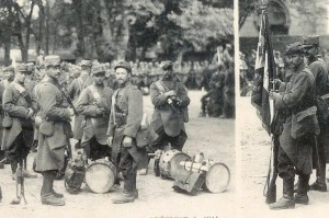 Les soldats du 65ème Régiment d'Infanterie de Nantes partent pour le front
