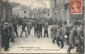 La Mobilisation à Nantes : ici à la Caserne Bedeau, près du Jardin des Plantes et du Lycée