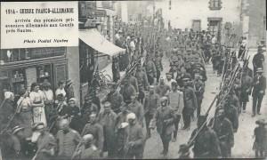 Arrivée des premiers prisonniers allemands aux Couëts, près de Nantes