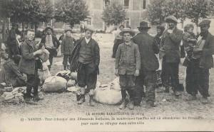 """Des familles, réfugiées à Nantes, ont fuit """"pour échapper aux Allemands barbares"""""""