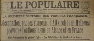 Le Populaire du 10 août 1914
