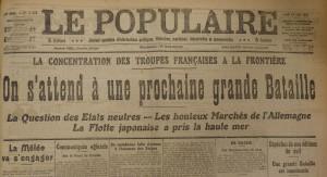 Le Populaire, 13 août 1914