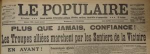Le Populaire du jeudi 10 septembre 1914