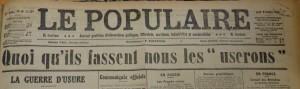 Le Populaire du 8 octobre 1914