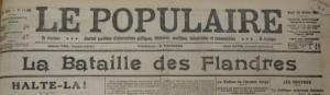 Le Populaire du 20 octobre 1914