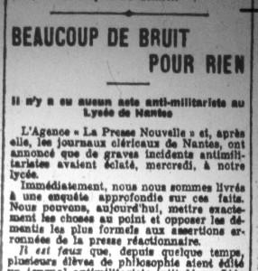 Le Phare de la Loire, 3 février 1913