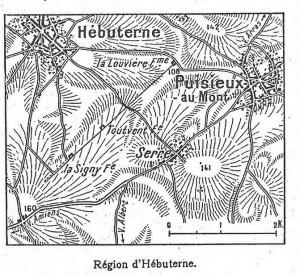 La ferme de Toutvent sur une carte parue dans L'Illustration du 12 juin 1915
