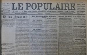 Le Populaire du 13 juin 1915