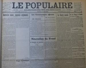 Le Populaire du 23 juin 1915