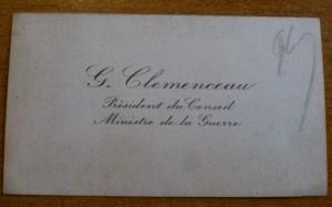 14-18 Carte de visite de Clemenceau