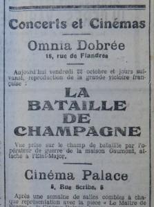 u Au cinéma, 22 octobre