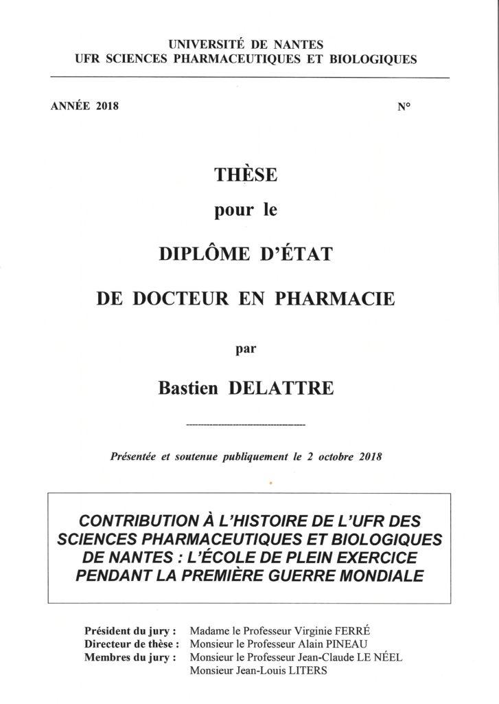 Bastien Delattre Une de thèse